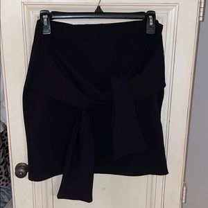 Misguided wrap bodycon skirt